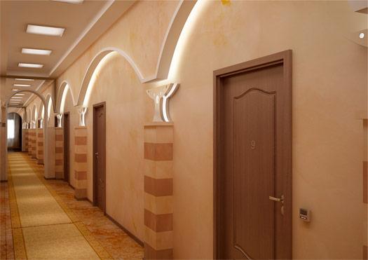 Интерьер коридора для санатория